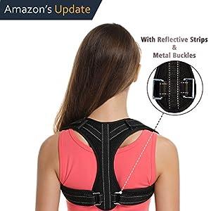 Posture Corrector for Women&Men Under Clothes,Posture Brace,Adjustable Back Brace with Reflective Strips,Back Posture Correct Brace,Clavicle Brace,Back Support for Shoulder&Neck&Upper Back