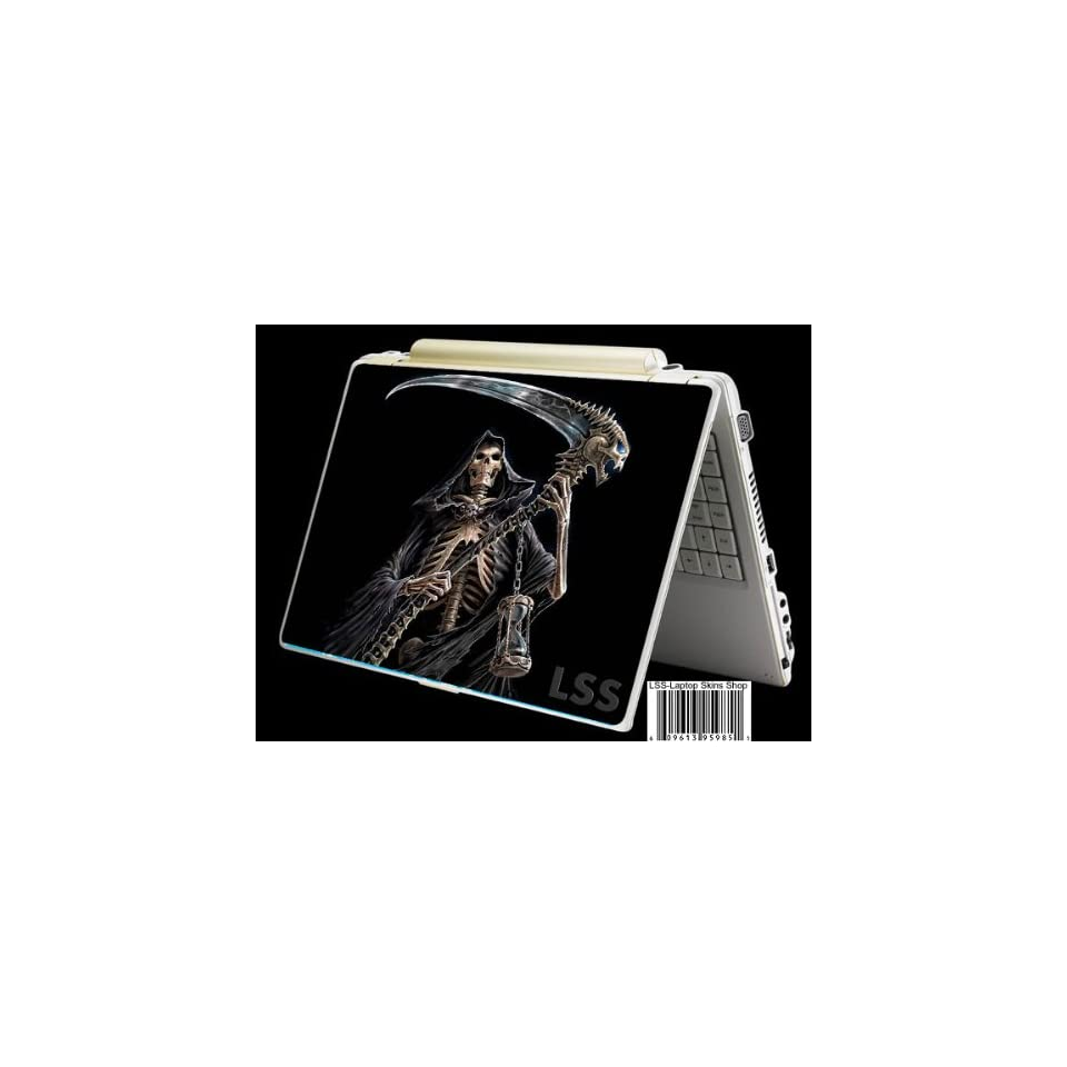 Laptop Skin Shop Laptop Notebook Skin Sticker Cover Art Decal Fits 13.3 14 15.6 16 HP Dell Lenovo Asus Compaq (Free 2 Wrist Pad Included) Reaper Skull