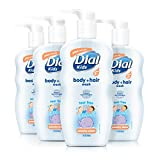 Dial Kids Body + Hair Wash, Peachy Clean, 24 Ounce (Pack of 4)
