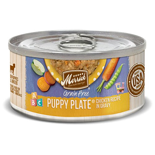 Merrick Small Breed Wet Dog Food, 3 Oz, 24 Count - Plate Puppy