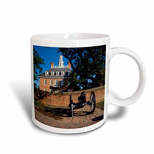 3dRose mug_147723_2 Governors Palace Williamsburg Virginia USA US47 WBI0003 Walter Bibikow Ceramic Mug, 15-Ounce, - Outlets Virginia Williamsburg
