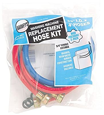 Harvey 093200 Replacement Washing Machine Hose, 2-Pack