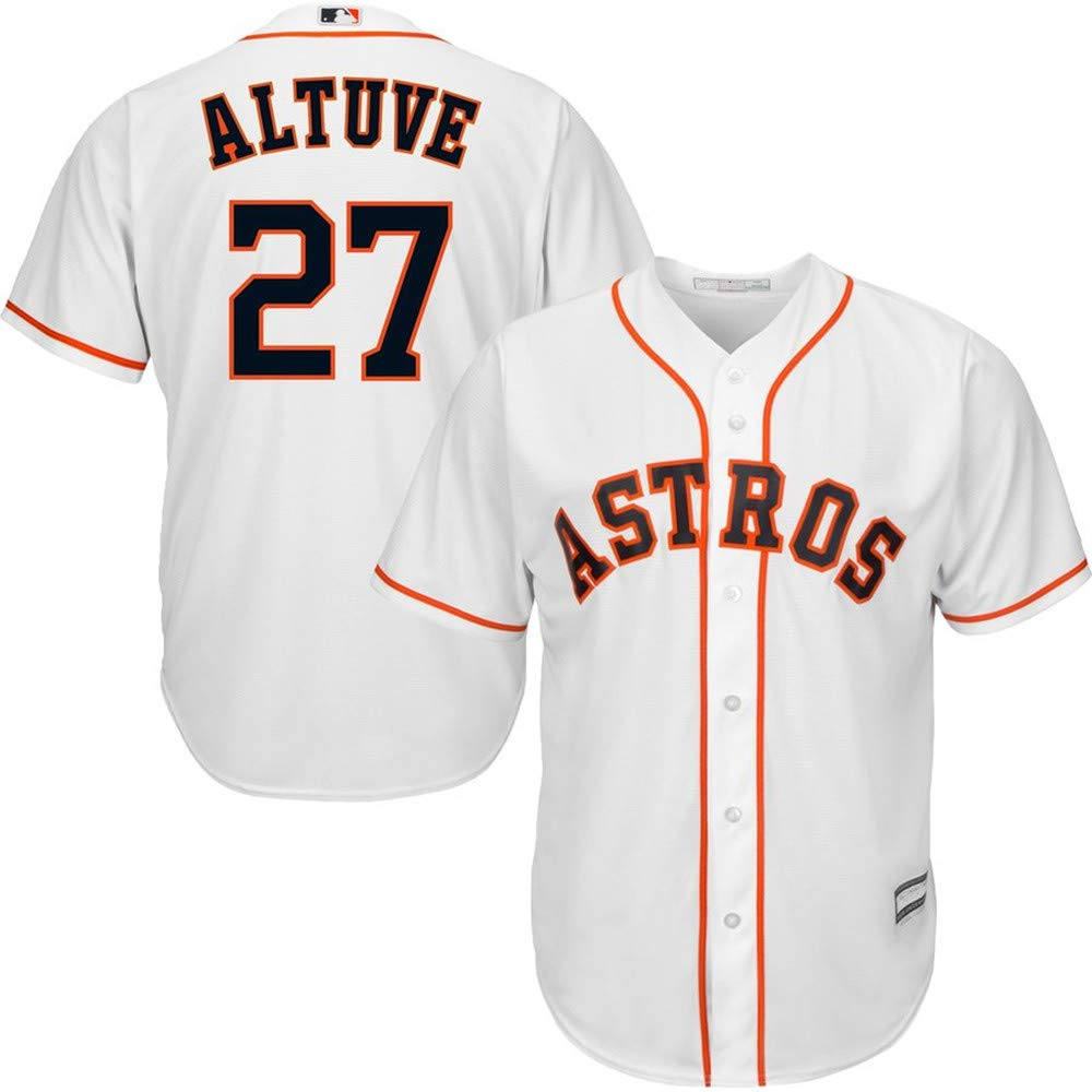 Jose Altuve Houston Astros Official Cool Base Player Jersey #27- White M by Mitchell & Ness (Image #1)