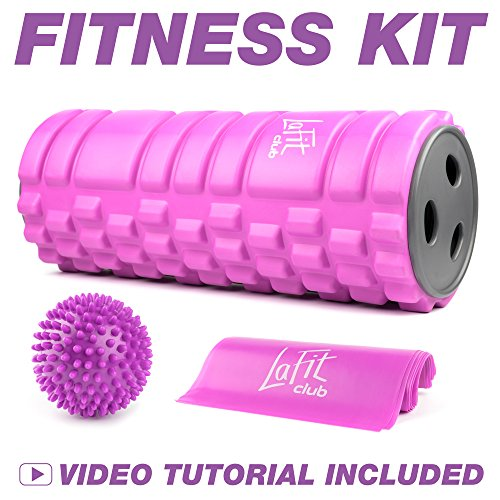 Foam Roller for Muscles Kit – Massage Roller for Women – Muscle Roller for Back Exercise – Portable Massager Rollers & Balls for Physical Therapy – Sports Gifts for Women – DiZiSports Store