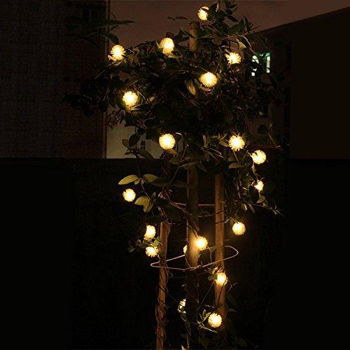 Uping Guirlande Lumineuse Solaire 20 LEDs 4,5 M/ètres en Forme Flocon de Neige D/écoration pour Jardin Maison Soir/ée F/ête etc Blanche Chaude