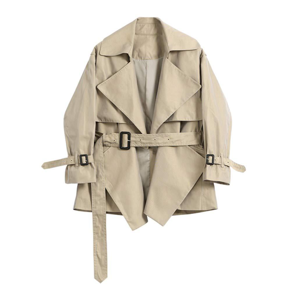 DWYJ Frauen TrenchcoatTemperament Größe abnehmen Windbreaker Jacke Jacke Jacke Langen Mantel Jacke Jacke Student Erwachsene Reise-Party