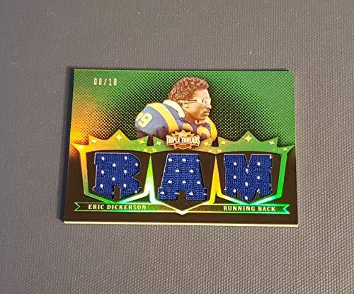 - Football NFL 2007 Topps Triple Threads Relic Emerald #TTR49 Eric Dickerson NM Near Mint Jersey 8/18 LA Rams