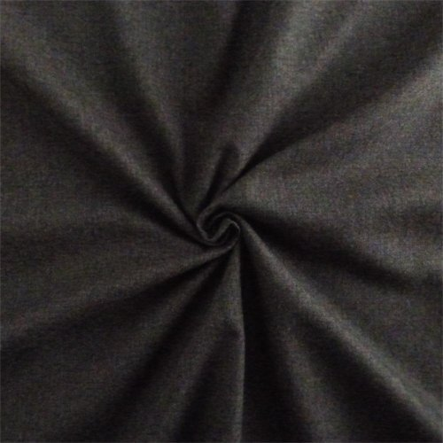 - Charcoal Grey Wool Flannel Suiting, Fabric by The Yard