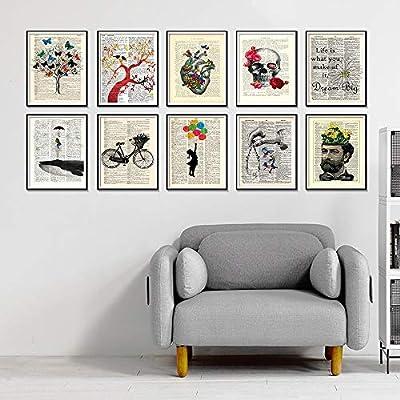 Geiqianjiumai Diccionario Antiguo Bicicleta Arte impresión Arte ...