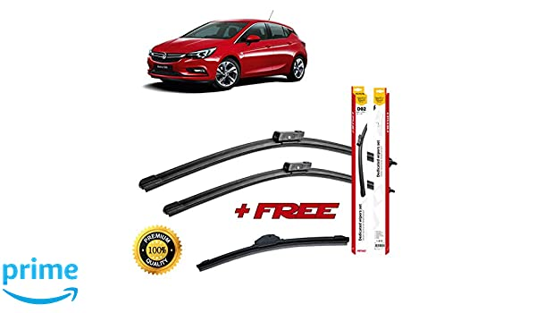 Set of 3 flat blade wiper blades for 0PEL ASTRA K 2015 rear wiper FREE of charge! ++: Amazon.es: Coche y moto