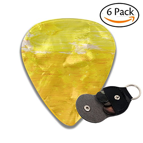 - Wxf Abstract Wallpaper Texture Background Of Close Up Fragment Of Oil Painting On Canvas With Brush Stylish Celluloid Guitar Picks Plectrums For Guitar Bass .96mm 6 Pack