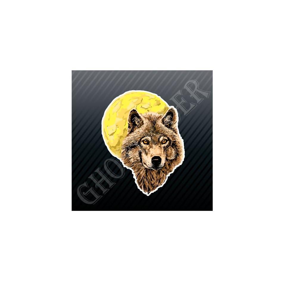 Wolf Moon Full Moon Car Trucks Sticker Decal Everything