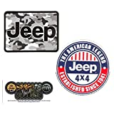 3-Pack Jeep Logo Stickers - Atomic Grille, American