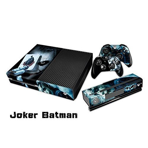 The Cosines Stickers® Microsoft Xbox One Protective Vinyl Designer Skins Stickers for Console and Two Wireless Controller Decal - The Joker Smile Face Batman Poker Play Card