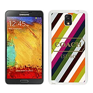 Unique Coach Samsung Galaxy Note 3 Case ,Popular And Durable Designed Coach 27 White Samsung Galaxy Note 3 Cover Case High Quality Phone Case
