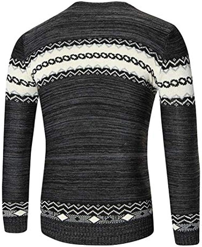 Męski sweter z dzianiny Menswear Autumn/Winter Sweater Knit elegancki Knitwear modny prosty styl nadruk sweter z dzianiny vintage długi rękaw okrągły dekolt sweter z dzianiny sweter męski: Odzie&
