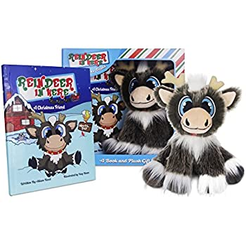 "Reindeer In Here: A Christmas Friend (Book & 8"" Plush Gift Set) Most Awarded Christmas Tradition Brand of 2018"
