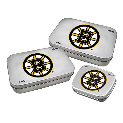Worthy Promotional NHL Boston Bruins Decorative Mint Tin 3-Pack with Sugar-Free Mini Peppermint Candies ()