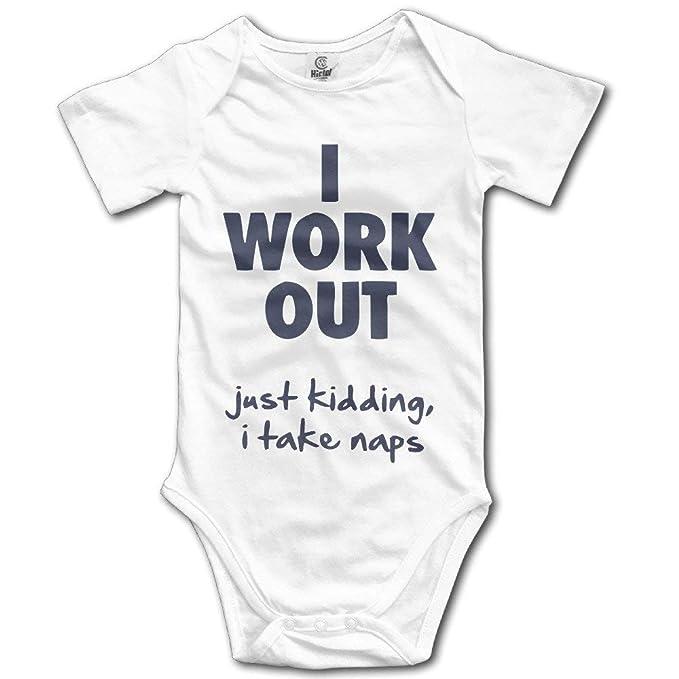 0ad7e95b8 Funny Rnin I Work Out. I Take Naps Newborn Infant Fashion Bodysuit Baby  Onesie Clothing: Amazon.ca: Clothing & Accessories