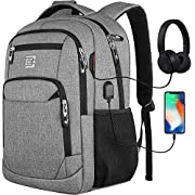 Laptop Backpack with USB Charging&Headphone Port,Anti-Theft Business Laptop Backpack with Breathable Padded Shoulder…