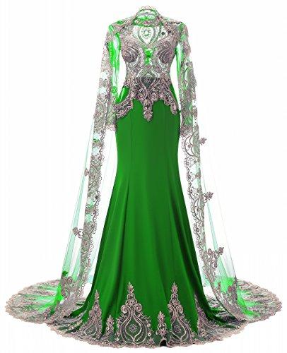 Mermaid Schal High Strass Abendkleider Liebe Neck nig mit der Langarm K wqaPxYvw