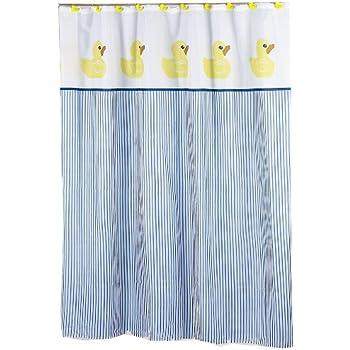 yellow and blue shower curtain. Carnation Home Fashions 6 Feet by  70 x 72 Amazon com InterDesign PVC Free Waterproof Ducks Shower