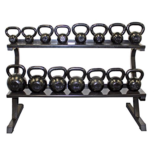 Troy 7 Pair VTX Kettlebell Set with Storage Rack 10-50lbs