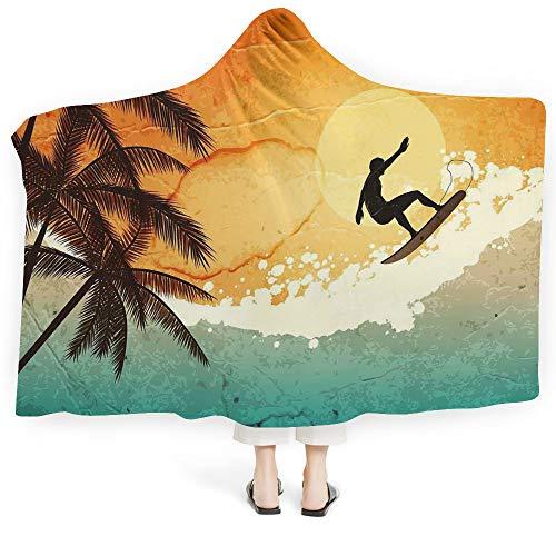(iPrint Throws Blanket Hamsa Unisex Swaddle Blankets Babies Newborn Infant Circle Dreamy Vivid Colors Hand Fatima Ethnic Esoteric Charm Elements Decorative (Kids 50