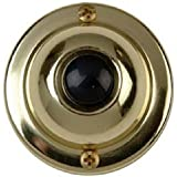 THOMAS & BETTS DH1605 Brass/BLK Round Push Button