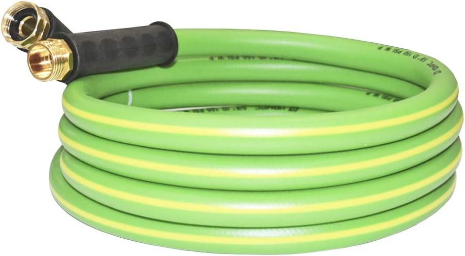 HQMPC Garden Hose No Kink Water Hose Swivel Grip Heavy Duty Flexible Hose (5/8