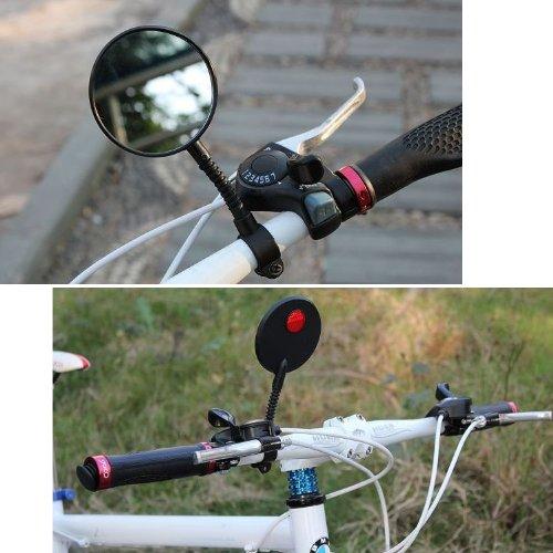 TRIXES R/étroviseur ultra-l/éger pour v/élo bicyclette /à fixer sur le guidon r/étroviseur