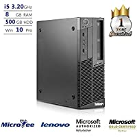 Lenovo Desktop M90p SFF Core i5-650 3.20GHz 8GB 500GB HDD DVD+RW Win 10 Pro (Certified Refurbished)