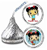 216 Ni Hao Kai-lan Party Hershey Kisses Stickers Thank You Party Favors