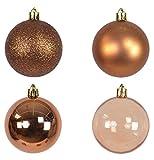 9 braune Weihnachtskugeln (matt bis halbdurchsichtig)