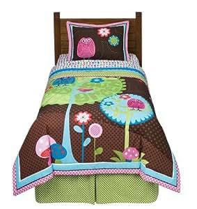 Amazon Com Owl Nature Comforter Set Full Home Amp Kitchen