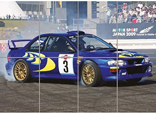 SUBARU IMPREZA WRC COLIN MCRAE RALLY CAR GIANT ART PRINT ...