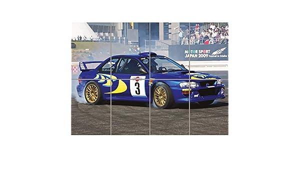 SUBARU IMPREZA WRC COLIN MCRAE RALLY CAR GIANT ART PRINT ...