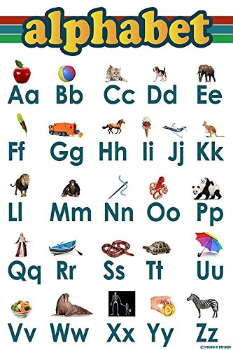 Abc Alphabet poster laminated clear teaching tool edu
