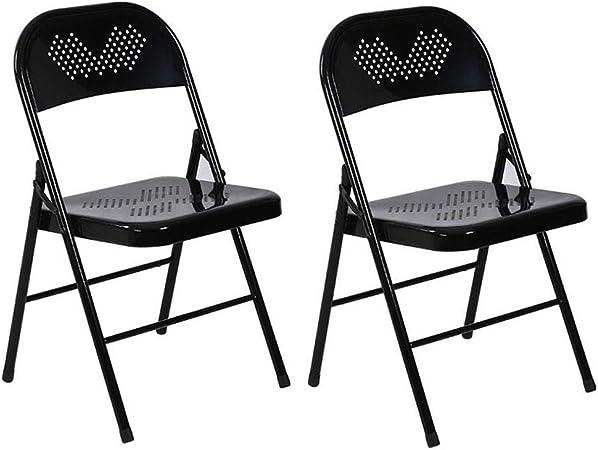 M Pliantes Home Chaises Chaise 2 Métal De en Pack De , MpUzVqS