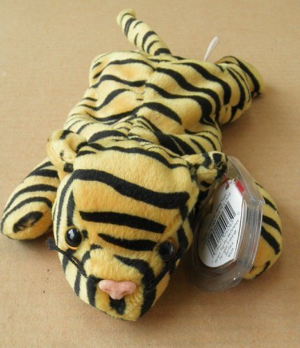 TY Beanie Babies Stripes the Tiger Stuffed Animal Plush Toy