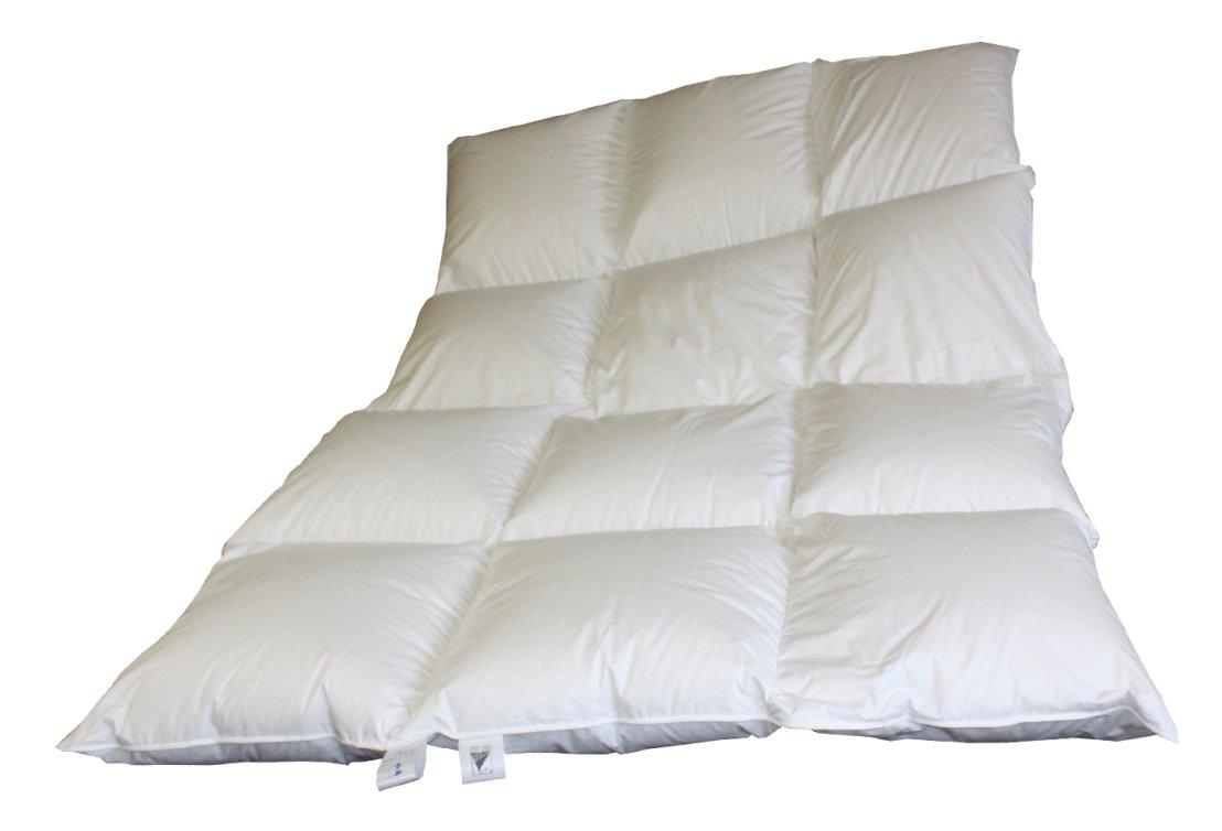 Betten Hofmann 8cm Hochsteg Daunenbett 3x4, 1700g Daunen 155 220 cm Winterbett extra warm
