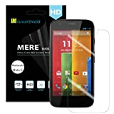 GreatShield(™) Motorola Moto G (1st Gen 2013) / Moto DVX [MERE Mark II] Ultra Crystal Clear HD Vision [UV Hard Coating] Screen Protector Shield - 3 pack - Lifetime Replacement Warranty