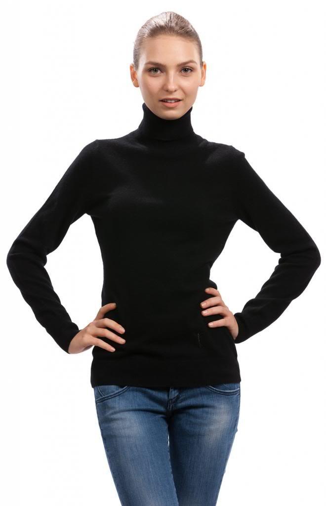 Turtleneck Sweater– 100% Cashmere - Citizen Cashmere (Black, M 41 104-02-02) by Citizen Cashmere