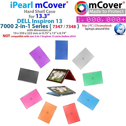 iPearl mCover Hard Shell Case for 13.3 Dell Inspiron 13 7347/7348 / 7359 2-in-1 Convertible (NOT Compatible with Dell Inspiron 13 7352 Model) Laptop (Black)