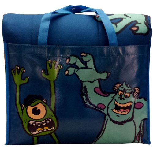 Disney/Pixar Monsters University 4-Piece Reversible Twin Bedding Set: Comforter, Fitted/Flat Sheets, Pillowcase and Bonus Tote