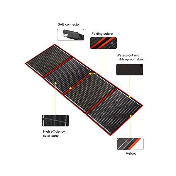 51qrCFkI4LL DOKIO 200W 18V Faltbar Solar Panel Kit Monokristallines Mit Solarladeregler Und PV-Kabel (Für 12V Kfz Batterie, AGM…