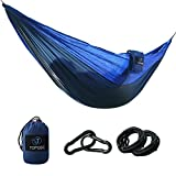 DESCRIPTION:    Hammocks Outfit- TOPQSC Hammocks 440lbs Capacity with 2 Ropes and Carabiners Ultra-light Portable Compact Nylon Camping Hammock Perfect for Outdoor, Beach, Backyard, Hiking and Indoor Sleeping    1. PREMIUM QUALITY: TOPQSC Hammocks...