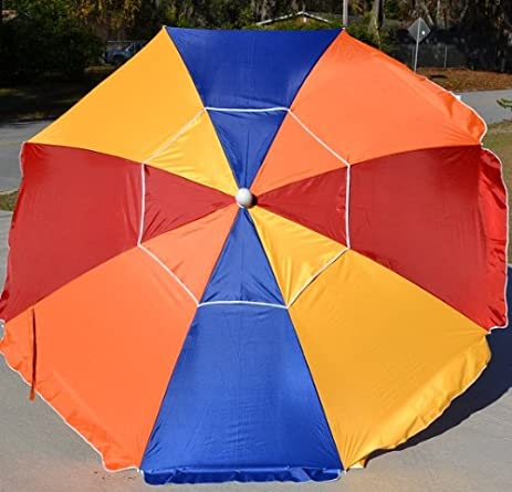 Beach Umbrella Aluminum Pole Fiberglass Ribs SPF Silver Coated Vented Canopy (Multi-Color) & Amazon.com : Beach Umbrella Aluminum Pole Fiberglass Ribs SPF ...