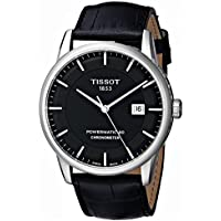 Tissot Luxury Automatic Stainless Steel Black Dial Men's Watch