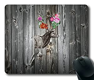 Beautiful Deer On Wood Fashion Masterpiece Limited Design Oblong Mouse Pad by Cases & Mousepads wangjiang maoyi